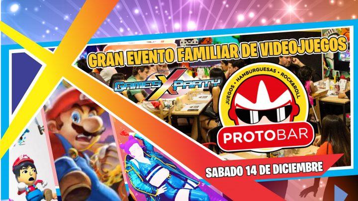 Gran evento familiar de Videojuegos en Protobar!!
